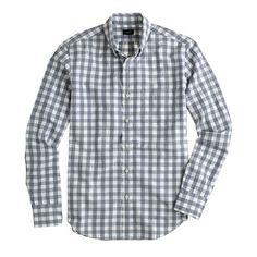 Jaspé fabric is made of different-colored yarns that are twisted together for a salt-and-pepper effect. We used the fabric in this shirt to give the classic gingham pattern a little something extra. <ul><li>Slim fit, cut more narrowly through the body and sleeves.</li><li>Cotton.</li><li>Button-down collar.</li><li>Chest pocket.</li><li>Machine wash.</li><li>Import.</li><li>Online only.</li></ul>