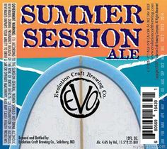 Evolution Craft Brewing Summer Session Ale
