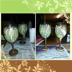 Bride and Groom Glasses Buck and Doe by howsheseesitecwood on Etsy, $29.95