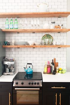 practical and pretty kitchen shelves