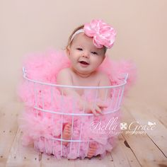 #baby #photo prop #baby photography #baby photos #baby pics #pink #flower headband #headband