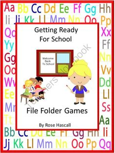 Getting Ready For School File Folder Games Autism, Pre-k, K, Special Education from smalltowngiggles on TeachersNotebook.com -  (29 pages)  - Back to School: There is always excitement when it is time for school to start. New clothes, new school supplies and seeing friends make it fun. Getting Ready For School File Folder Games gives students the opportunity to refresh the skills they will need