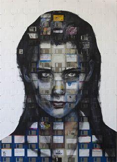 Floppy disk art by Nick Gentry - WallArt101...