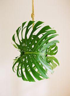Tropical Leaf Pendant Light