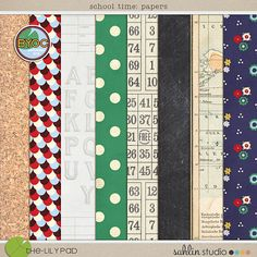 school time (papers) - The Lilypad (sahlin studio - one of my favorite designers)