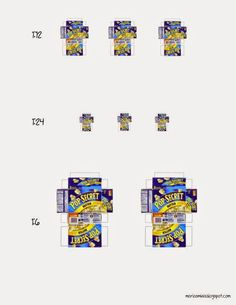 Maria's Minis: Free Printable: Miniature Popcorn Box