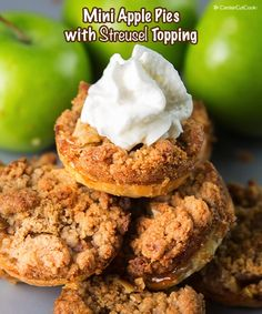 Mini Apple Pies with Streusel Topping from @CenterCutCook