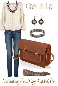 Casual Fall outfit inspired by Bag Obsession: Cambridge Satchel Company | The Shopping Mama