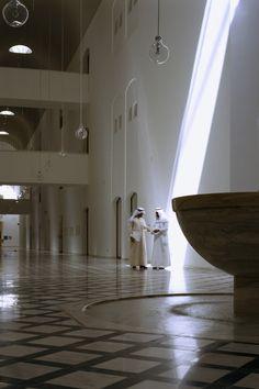 Ministry of Foreign Affairs, Saudi Arabia by Henning Larsen Architects. #Light #design #lobby #interior #daylight
