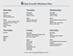 Crossfit AT-HOME Crossfit inspired workout plan!!  How to do it with your busy schedule! www.simplysadiejane.com #crossfit #fitness