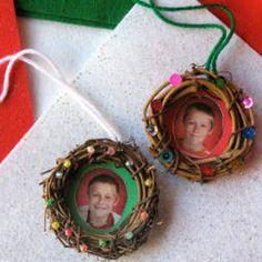 Wreath Photo Ornament great idea to use all those extra school photos