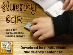 Use a toy car to practice reading fluency! This freebie includes directions, fluency poster  sentences.