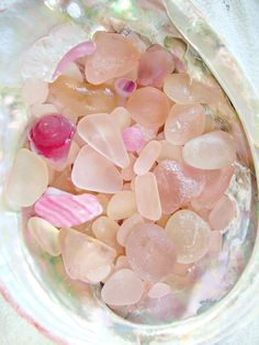 Pink Sea Glass ~ Vintage pressed glass