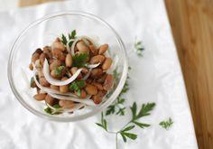 ensalada de porotos con cebolla, a la chilena