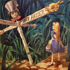 David Hall - Disney concept art, His work was rejected for the 1951 film Alice in Wonderland because it was seen as too dark.