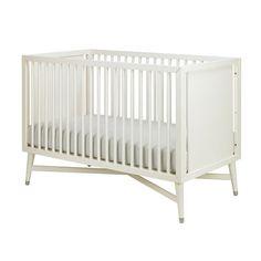The aptly-named #Mid-Century crib. #mod #nursery