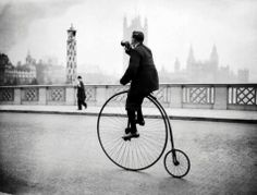 Penny Farthing Bicycling Bugle Blowing 1931