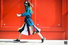 Irene Kim loving.  #streetstyle #color #loveit