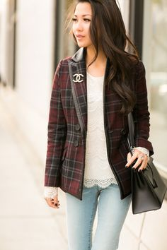 plaid + Chanel