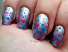 Simple Tri Polish Dotticure by fingerfood - Nail Art Gallery nailartgallery.nailsmag.com by Nails Magazine www.nailsmag.com #nailart