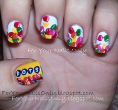 Dots Nails dot nail, dot candi, art project, nail candy, nail candi, beauti, candi nail, dots, nail art