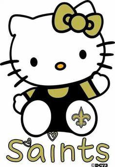hello kitti, geaux saint, saintswho dat, new orleans saints, dat nation, hellokitti, orlean saint, hello kitty, footbal