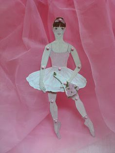 Girl Ballerina Articulated Paper Doll, by Rowena Murillo