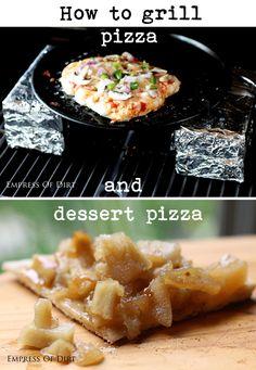 dessert pizza, grill
