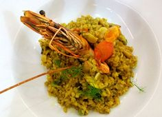 Seafood Paella with Freekeh from Cook & Eat Lebanese
