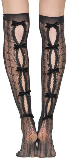Valentino Over The Knee Socks in Black