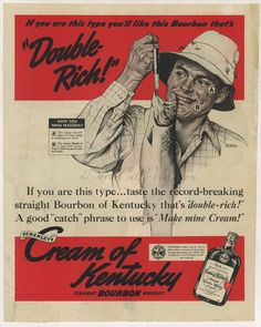 Original 1939 Vintage Linen Backed Norman Rockwell Kentucky Bourbon Whiskey Ad | eBay  The bourbon for those who look similar to a trout.