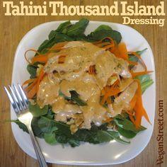 Tahini Thousand Island Dressing