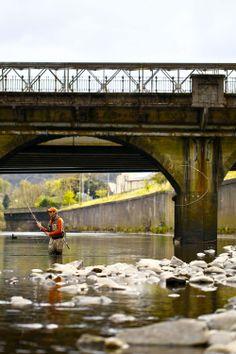 Rustic fishing on the River Taff in South Wales, UK. It doesn't get much more Urban than this.
