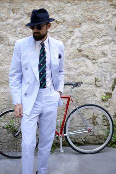 """Via beyondfabric: """"The Seersucker Suit"""" #italian #style #men #trend"""
