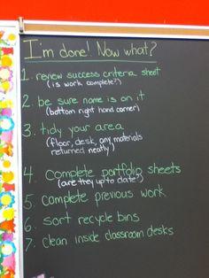 blackboard in my art classroom