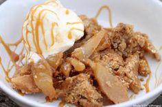 Salted Caramel Apple Crisp Recipe   http://aol.it/1tqiYOv