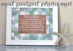Mod Podged DIY Photo Mat! #crafts #frames