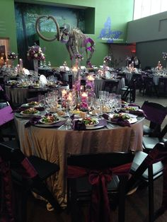 A purple wedding reception in the Central Gallery! central galleri