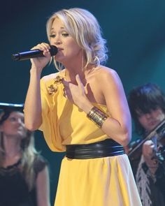 Carrie Underwood performs at the Grand Ole Opry in Nashville, Tenn., on March 7, 2009
