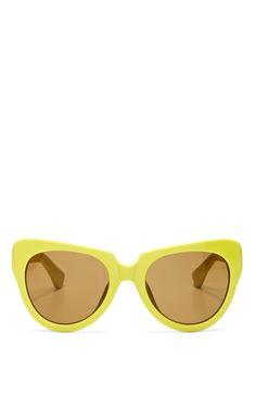 + Dries Van Noten Cat-Eye Acetate Sunglasses by Linda Farrow Now Available on Moda Operandi