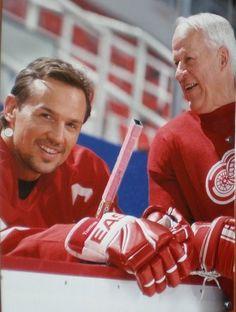 Detroit Red Wings Legends - Steve Yzerman and Gordie Howe
