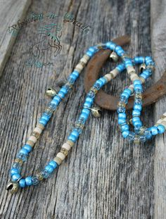 Natural horsemanship rhythm bead necklaces for horses by Rhythm-n-Beads