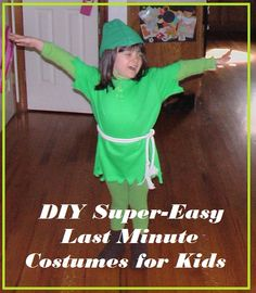 DIY Super-Easy Last Minute Costume Ideas for Kids!