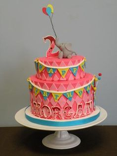 Circus themed birthday cake {by Blue Note Bakery}