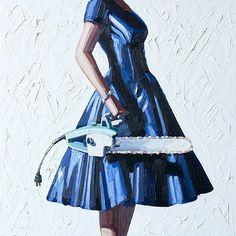 dogs, artworks, ear, the dress, beauty, kelli reemtsen, crows, chainsaw, kelli reemsten