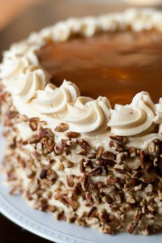 Apple-Spice Layer Cake with Caramel Swirl Icing