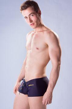 Dietz - Boxer Swimsuit Deep - Side - www.johnnybeachbuns.com