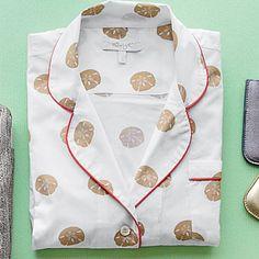 Block Print Long Pajama Set, $132 | Marigot