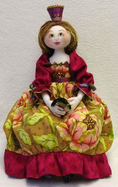 Pretty Princess and Charming Frog - Cloth Doll Patterns by Leslie Molen
