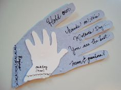 mother's day card: A Mother Holds Her Childs Hand For A Short While And Their Hearts Forever